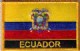 Ecuador Embroidered Flag Patch, style 09.